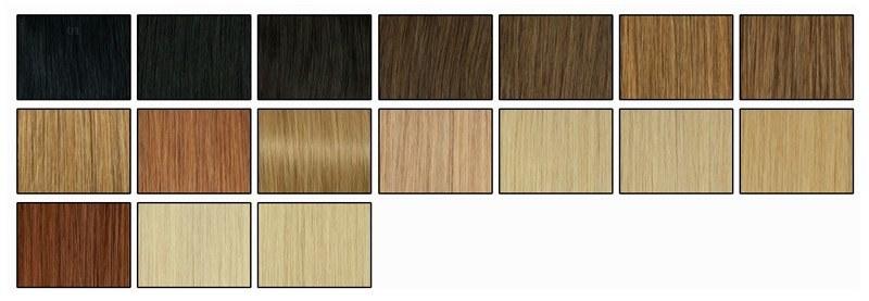 Barvni odtenki lasnih podaljškov